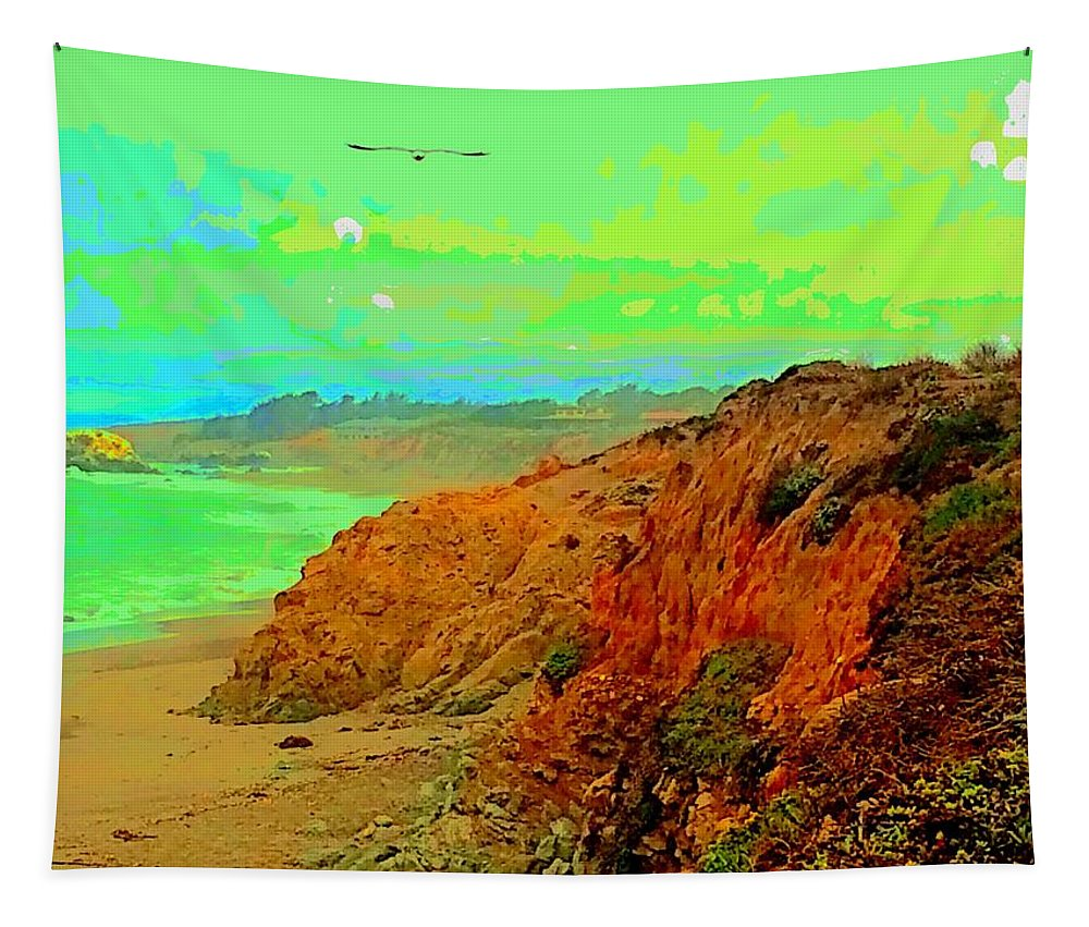 Landscape Tapestry featuring the photograph Trippin' To Cambria by FlyingFish Foto