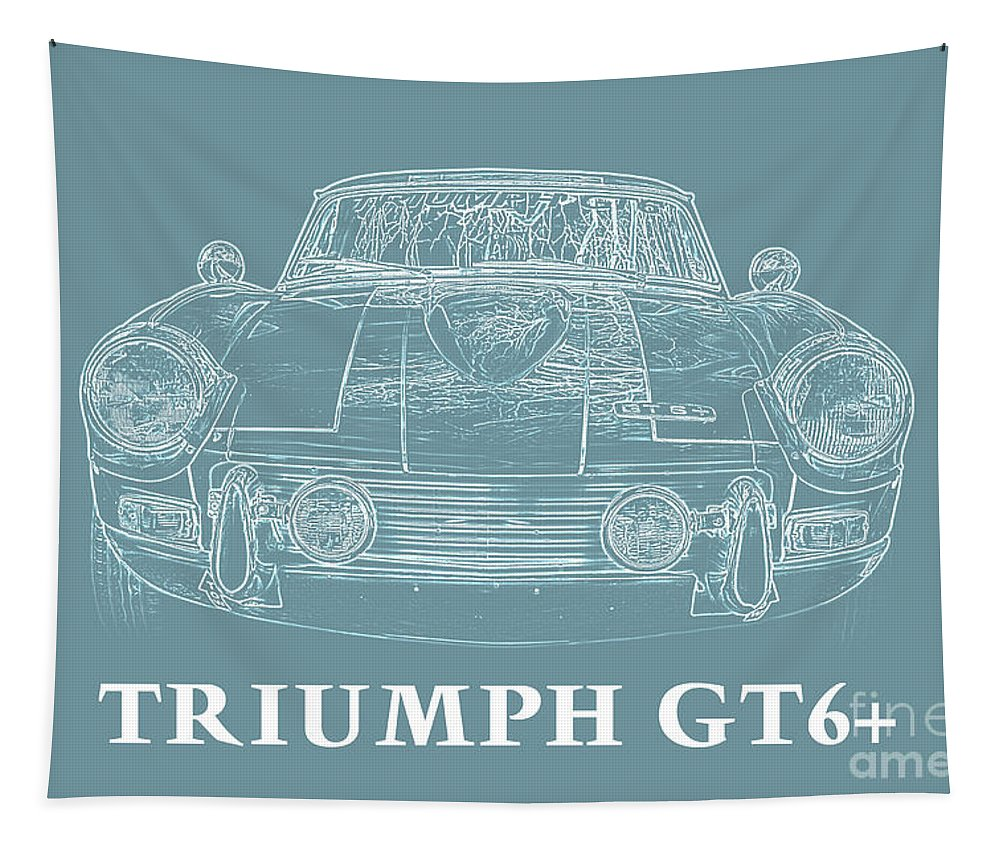 Car Tapestry featuring the photograph Triumph Gt6 Plus by Edward Fielding