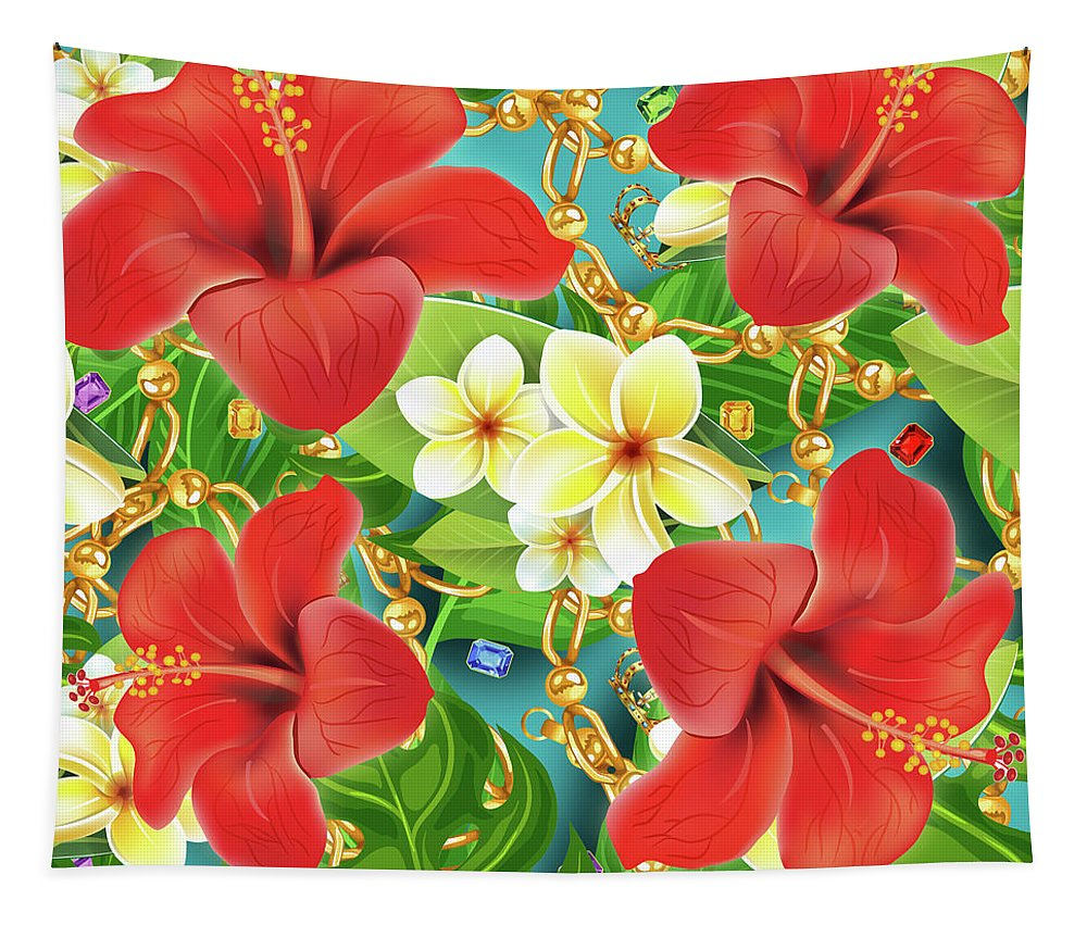 Jewelry Tapestry featuring the photograph Tropical Color Party by Mark Ashkenazi
