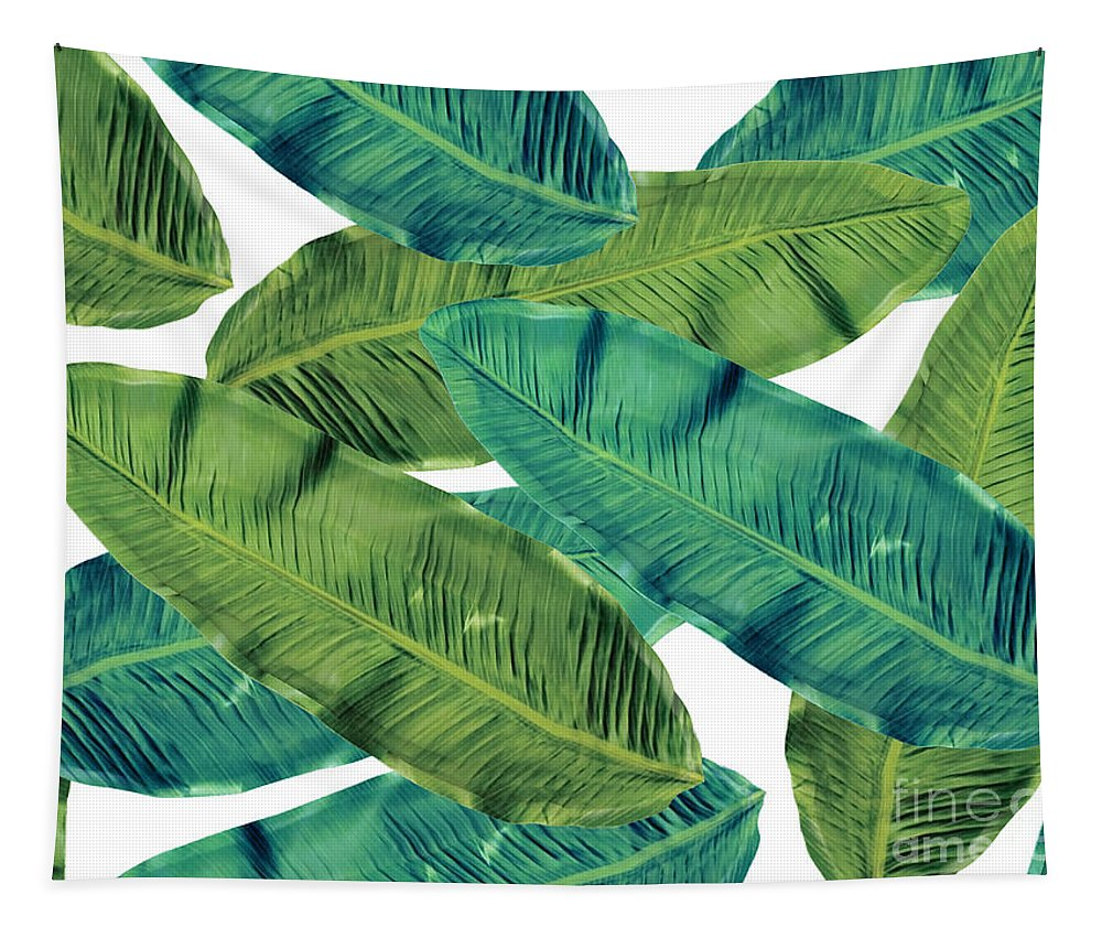 Summer Tapestry featuring the digital art Tropical Colors 2 by Mark Ashkenazi