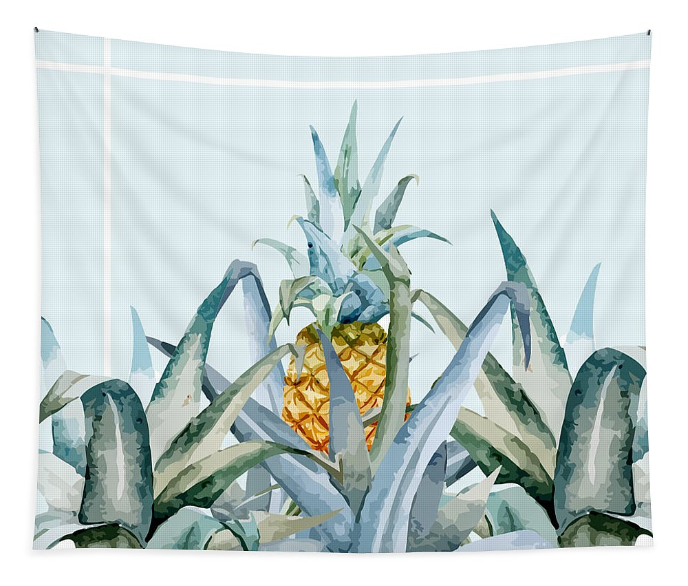 Summer Tapestry featuring the painting Tropical Feeling by Mark Ashkenazi