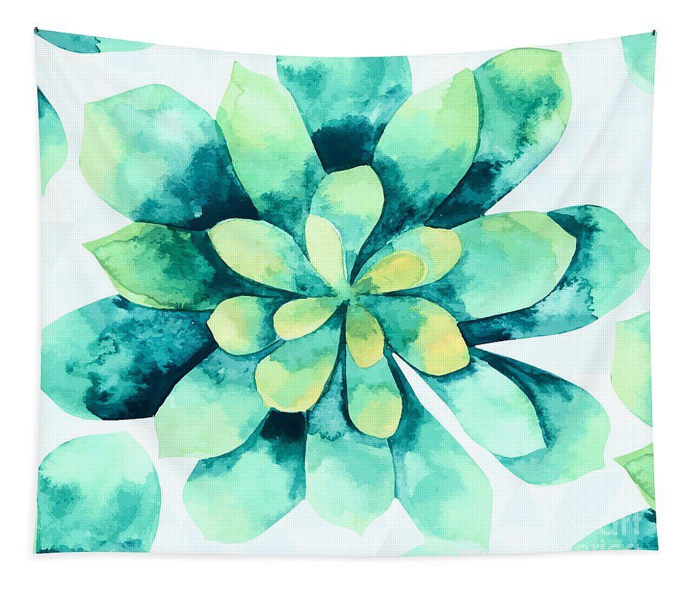 Summer Tapestry featuring the painting Tropical Flower by Mark Ashkenazi