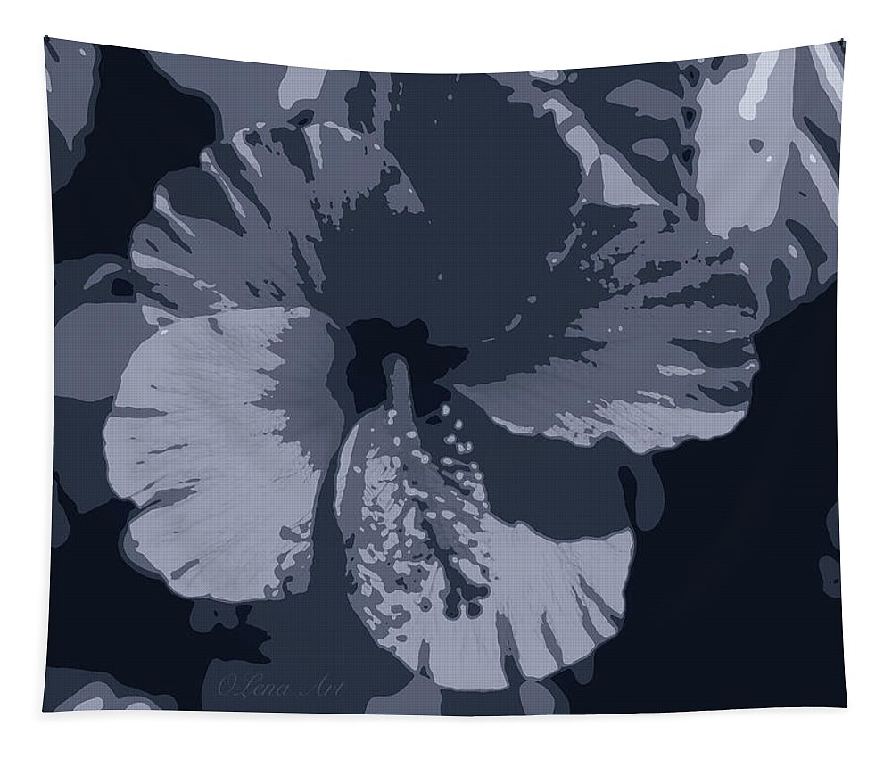Hibiscus Tapestry featuring the photograph Tropical Night by OLena Art Brand