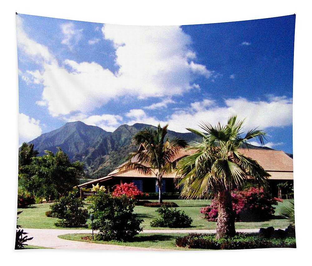 1986 Tapestry featuring the photograph Tropical Plantation by Will Borden