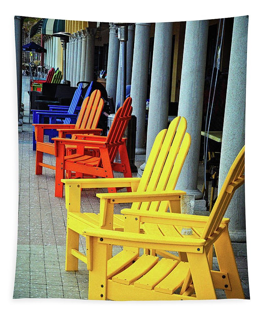 Chairs Tapestry featuring the photograph Tropical Seating by Lynn Bauer