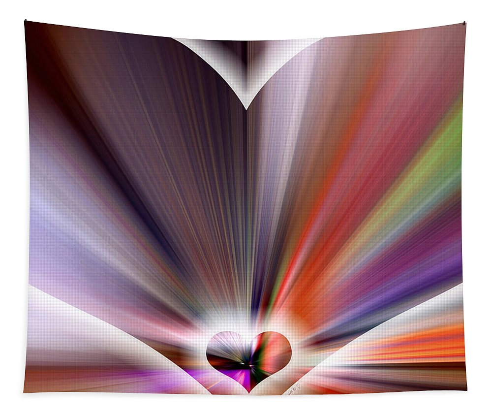 Abstract Tapestry featuring the digital art True Colors by Linda Galok