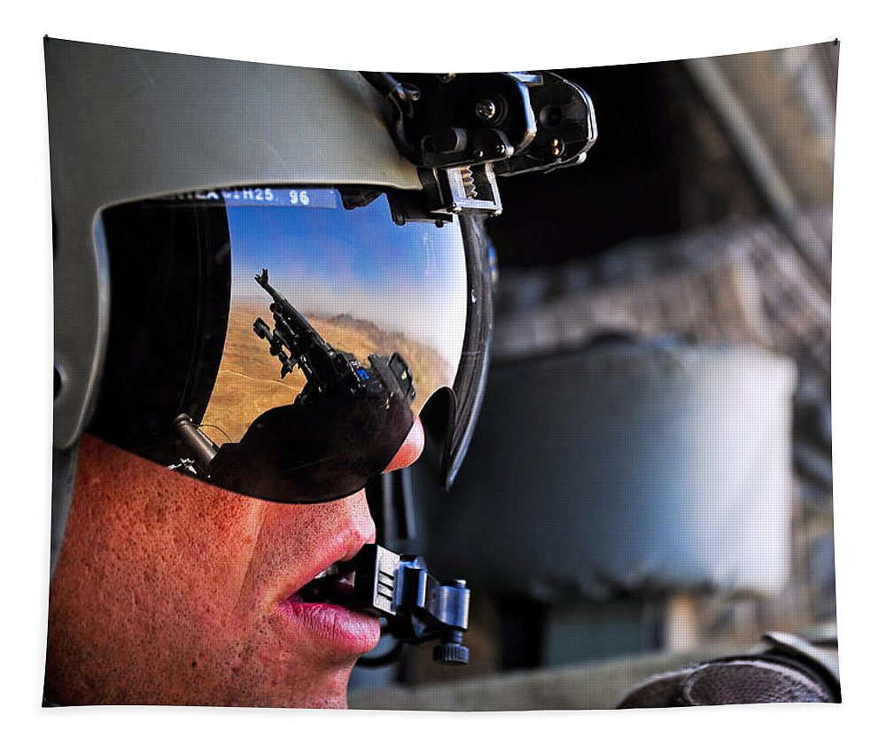 Door Gunner Tapestry featuring the photograph Trunk Monkey by JC Findley