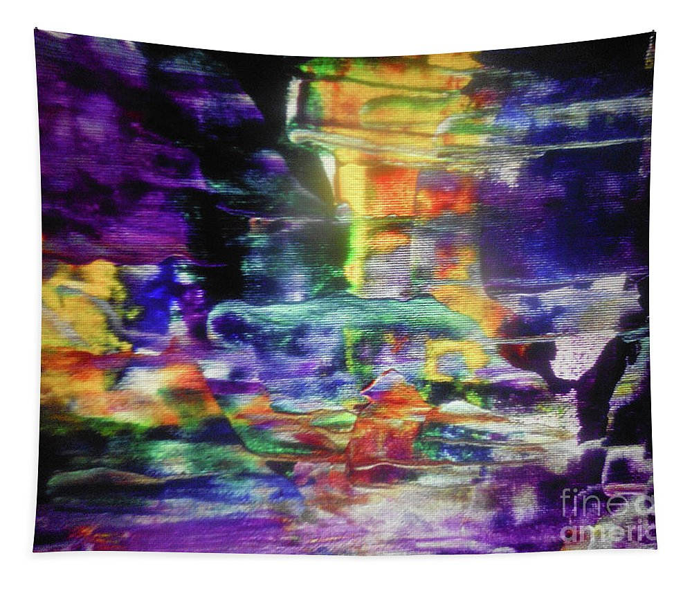 Abstract Tapestry featuring the painting Tugboat by Elle Justine