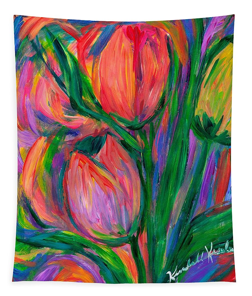 Tulip Tapestry featuring the photograph Tulip Edge by Kendall Kessler
