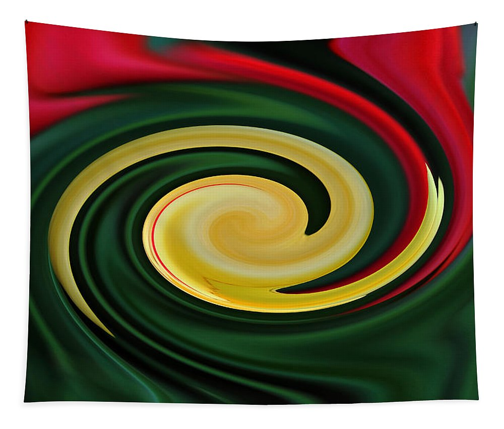 Floral Tapestry featuring the photograph Tulip Swirl by Debbie Oppermann