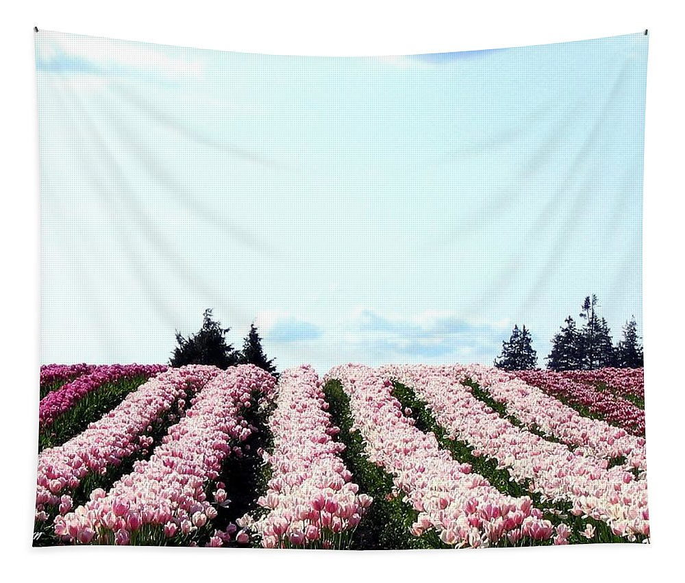 Agriculture Tapestry featuring the photograph Tulip Town 10 by Will Borden