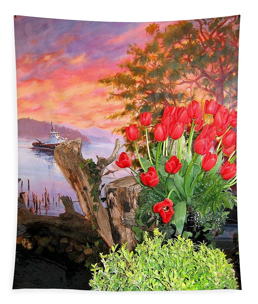 Agriculture Tapestry featuring the photograph Tulip Town 19 by Will Borden