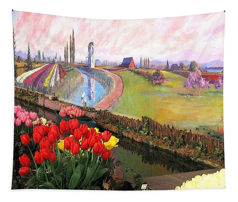 Agriculture Tapestry featuring the photograph Tulip Town 21 by Will Borden