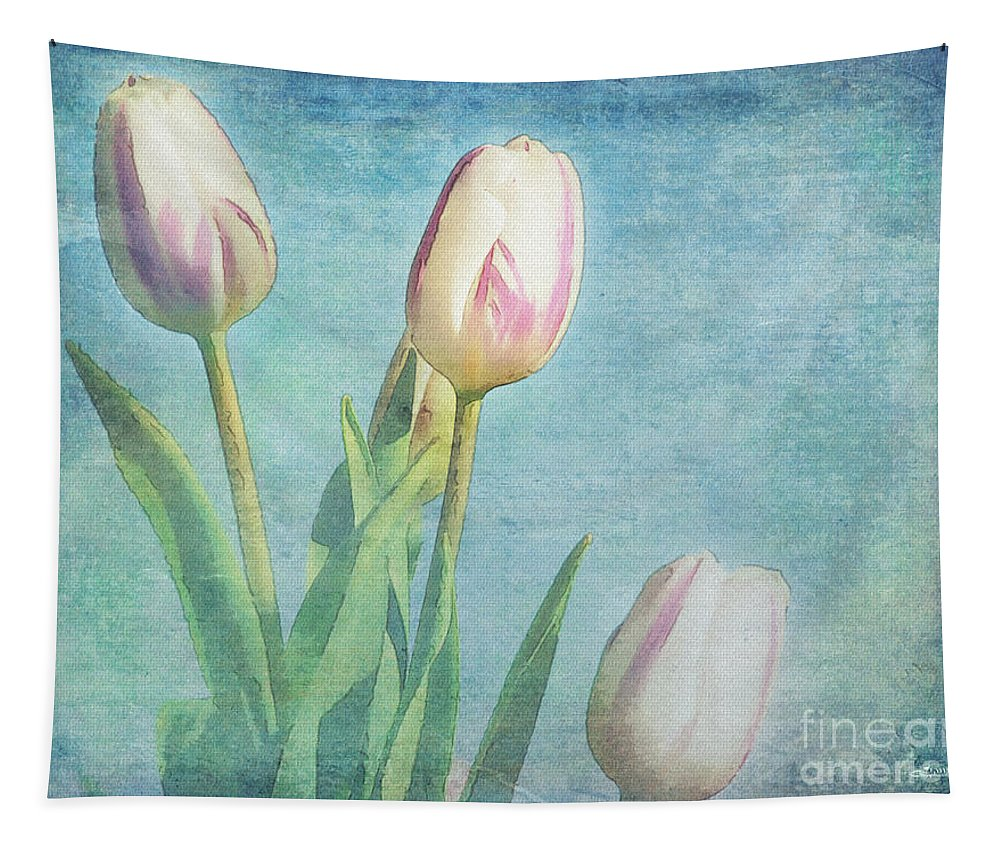 Photo Tapestry featuring the photograph Tulips Day by Jutta Maria Pusl