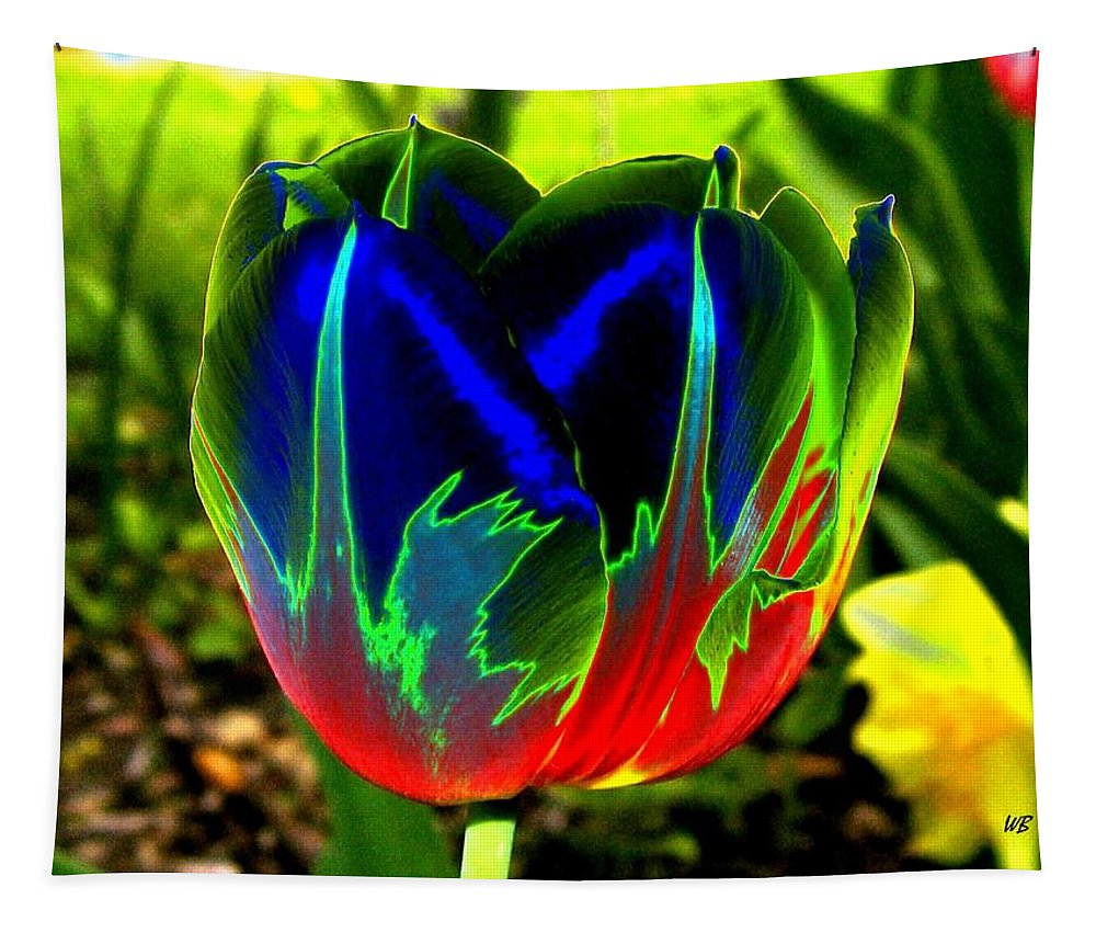 Resplendent Tapestry featuring the digital art Tulipshow by Will Borden