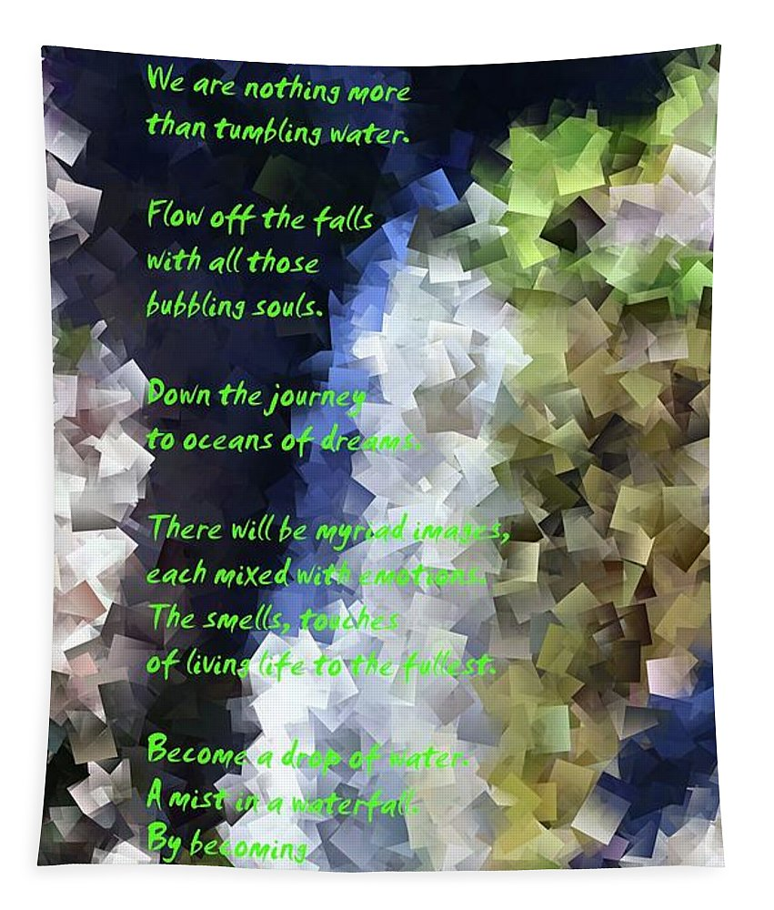 Poems Tapestry featuring the photograph Tumble Off The Waterfall by Jeff Swan