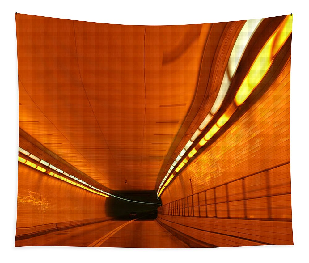 Tunnel Tapestry featuring the photograph Tunnel by Linda Sannuti