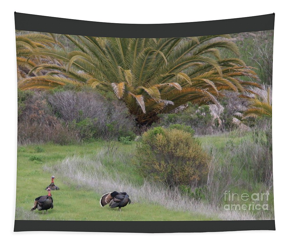 Card Tapestry featuring the Turkey Day Card by Carol Groenen