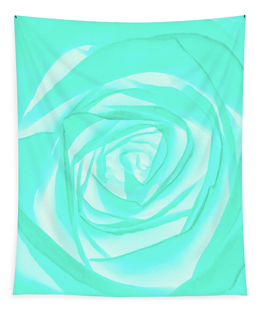 Turquoise Tapestry featuring the photograph Turquoise Rose by Heather Joyce Morrill