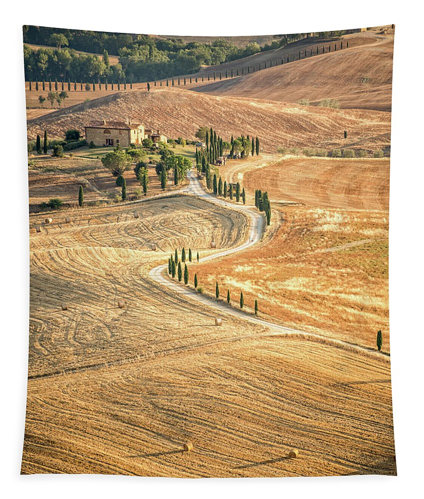 Tuscany Tapestry featuring the photograph Tuscan View by Delphimages Photo Creations