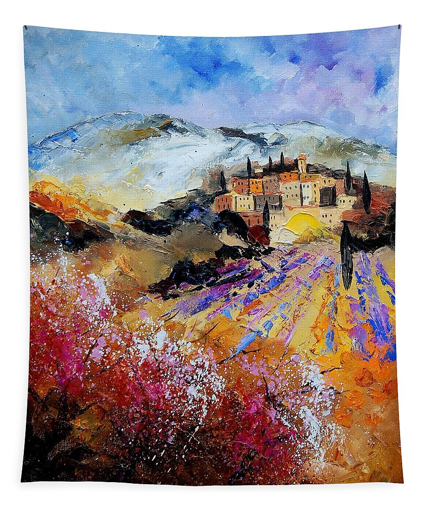 Provence Tapestry featuring the painting Tuscany 56 by Pol Ledent