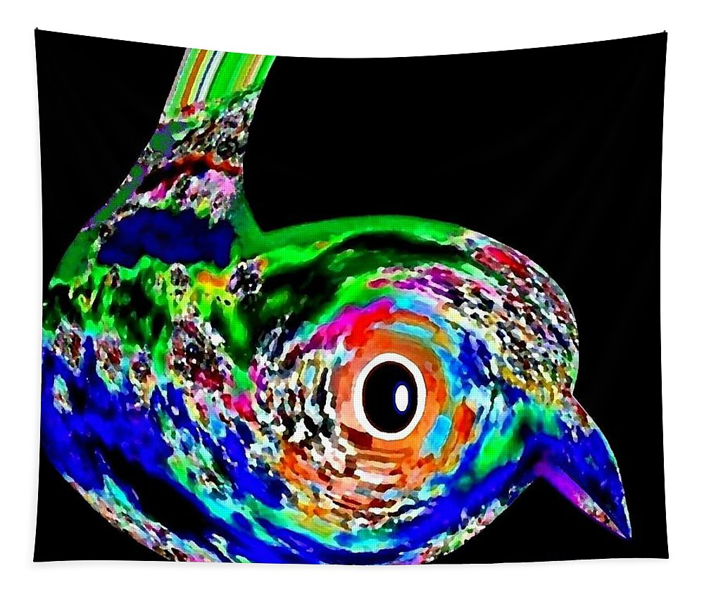 Abstract Tapestry featuring the digital art Tweeter by Will Borden