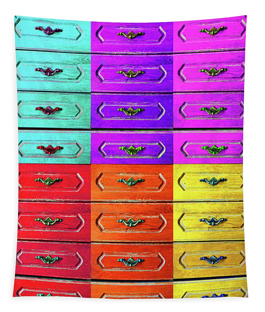 Drawers Tapestry featuring the photograph Twelve Options 1. by Don Pedro DE GRACIA
