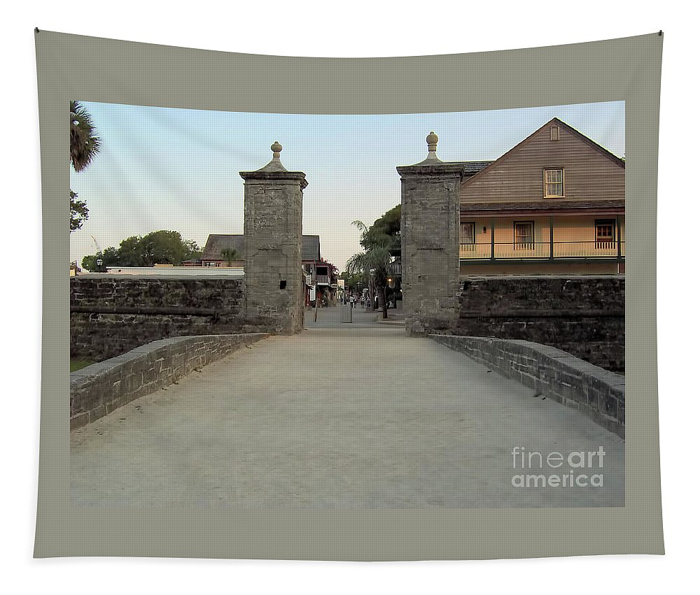 City Gates Tapestry featuring the photograph Twilight At The City Gates by D Hackett