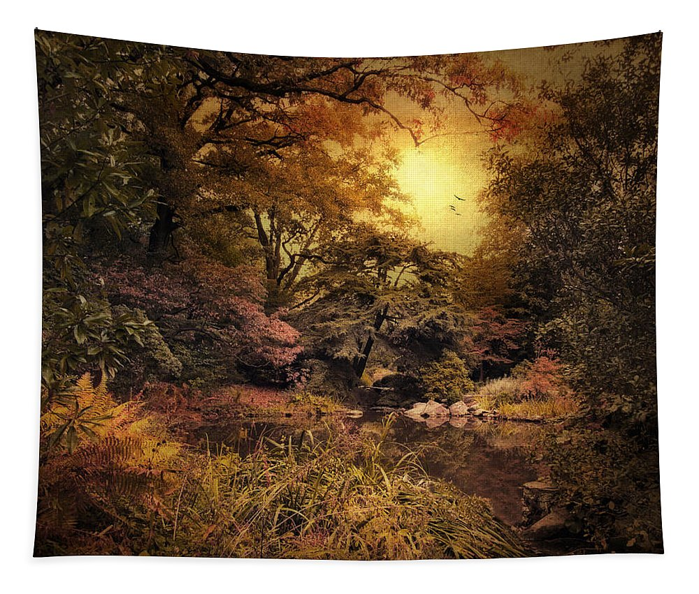Autumn Tapestry featuring the photograph Twilight Autumn Garden by Jessica Jenney