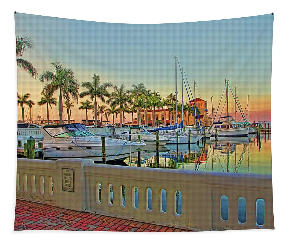 Twin Dolphin Marina Tapestry featuring the photograph Twin Dolphin Marina by HH Photography of Florida