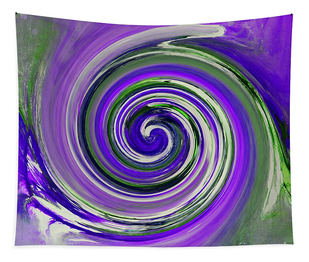 Twirl Tapestry featuring the painting Twirl 02c by Gull G