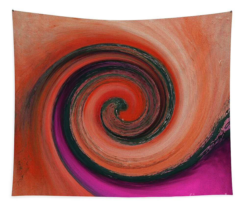 Twirl Tapestry featuring the painting Twirl 07 by Gull G