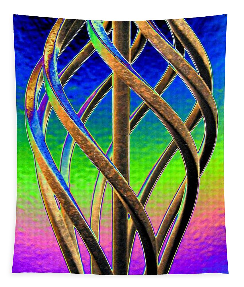 Abstract Tapestry featuring the digital art Twist And Shout 2 by Will Borden