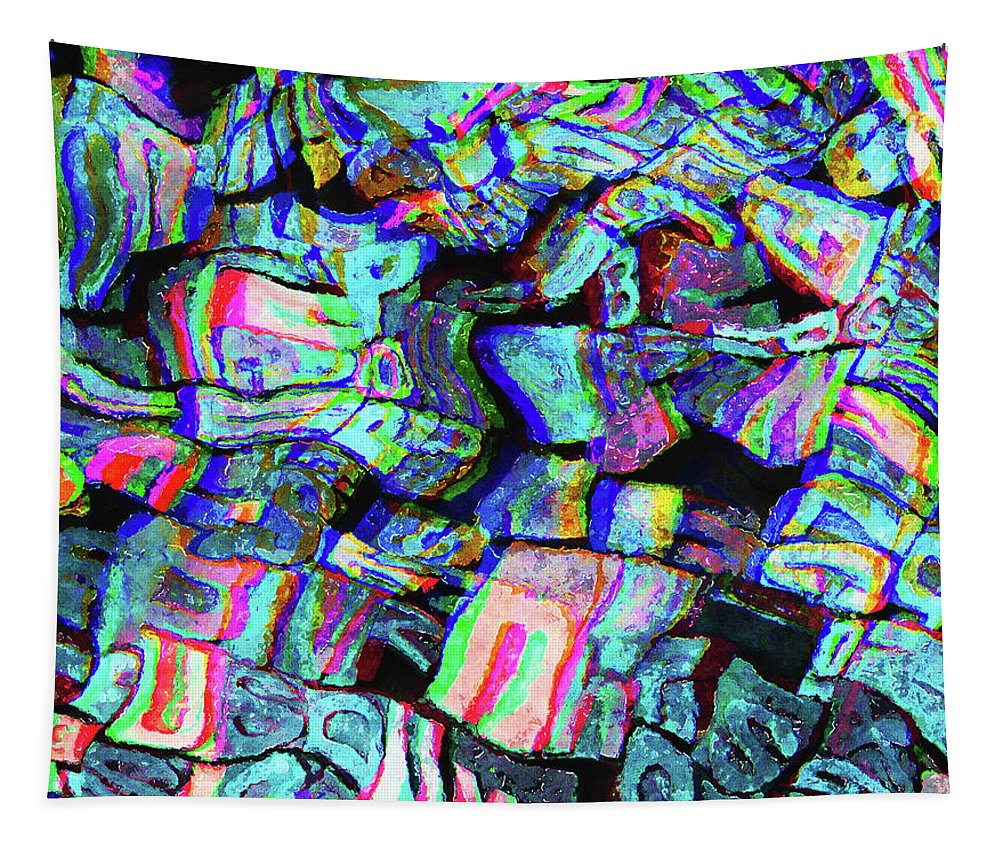 Letters Tapestry featuring the photograph Twisted Text And Colors by Phil Perkins