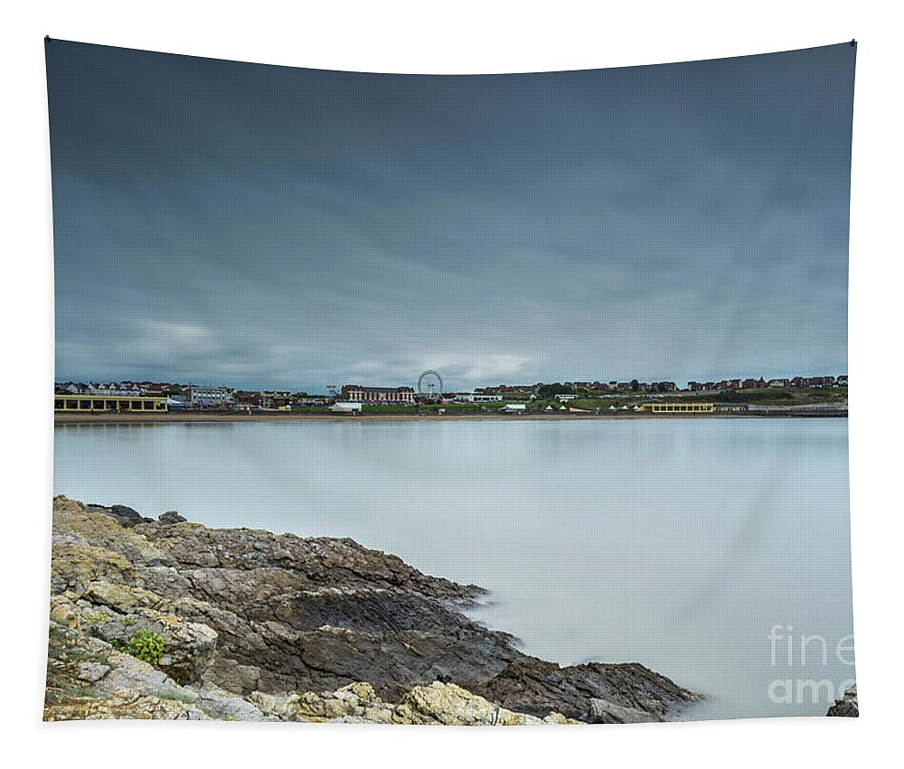 Barry Island Tapestry featuring the photograph Two Minutes At Barry Island by Steve Purnell
