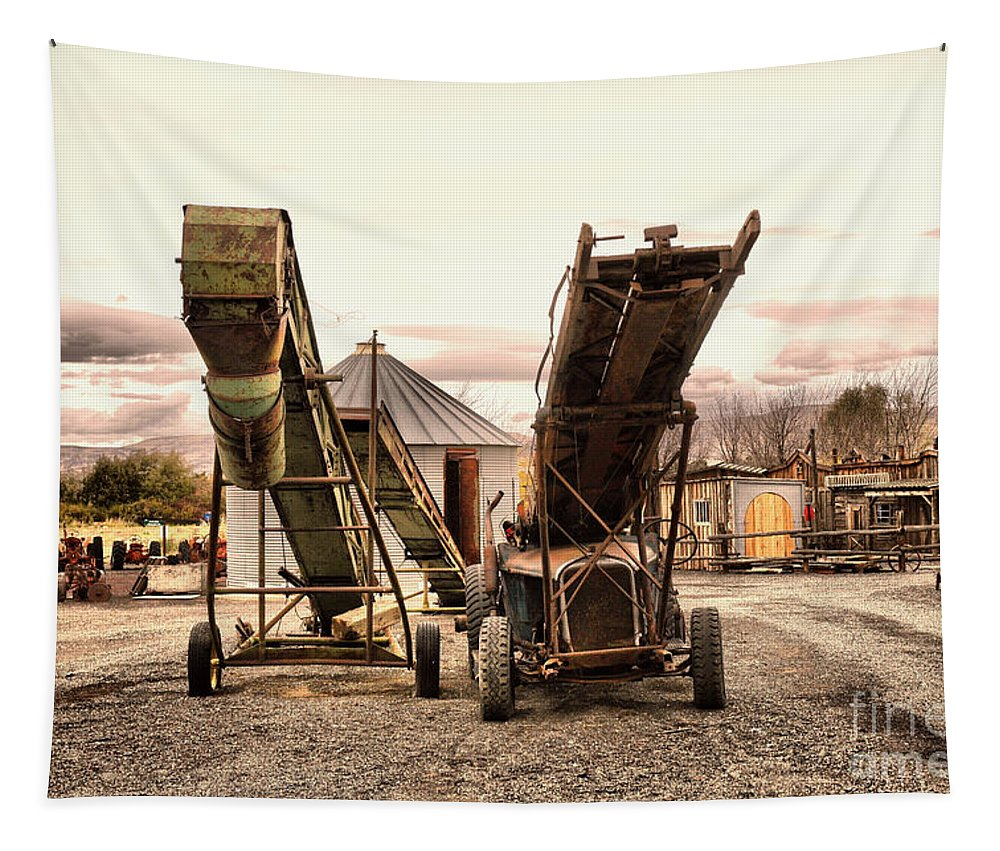 Conveyor Belts Tapestry featuring the photograph Two Old Conveyor Belts by Jeff Swan