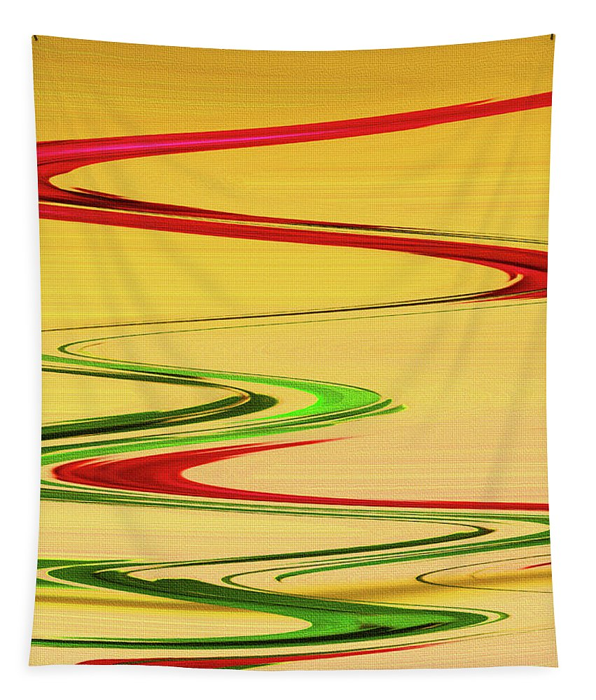 Two Red Roses Abstract Tapestry featuring the photograph Two Red Roses Abstract by Tom Janca