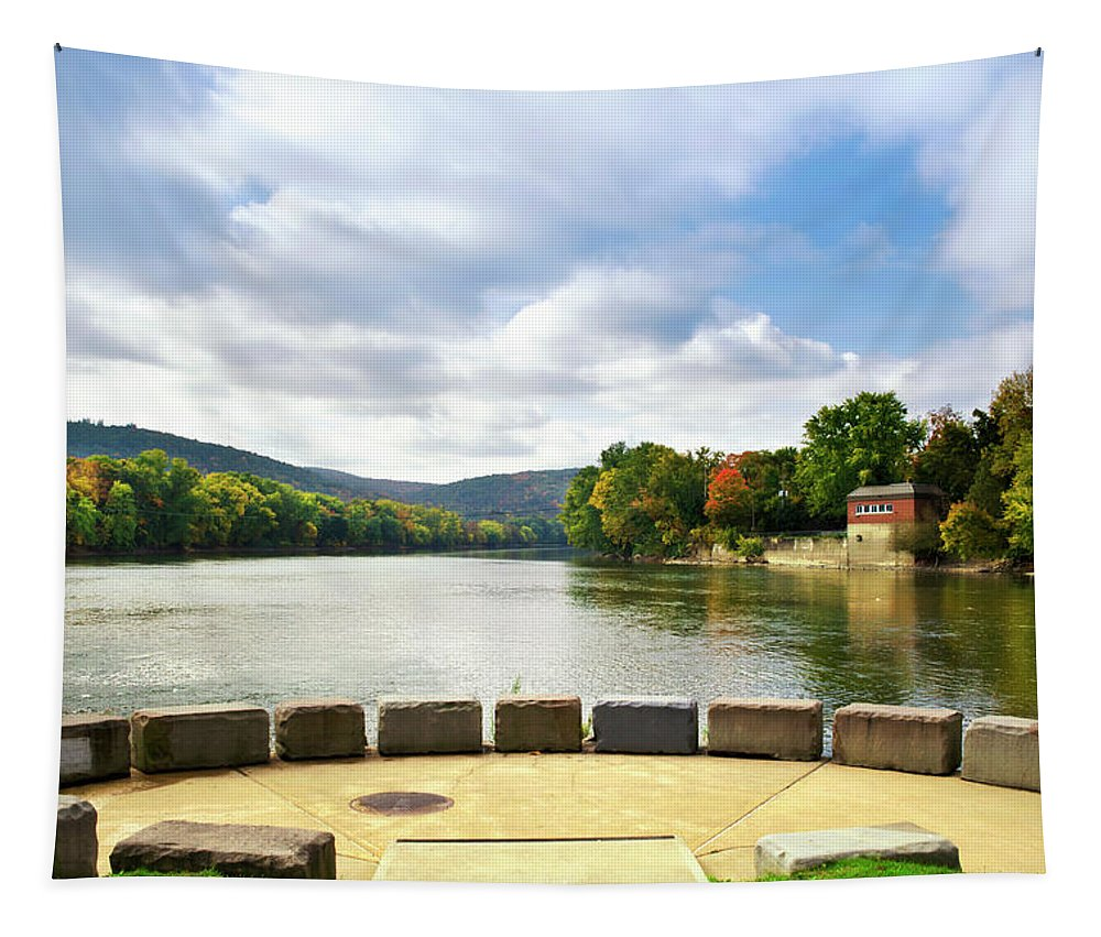 Binghamton Tapestry featuring the photograph Two Rivers Confluence Park by Christina Rollo