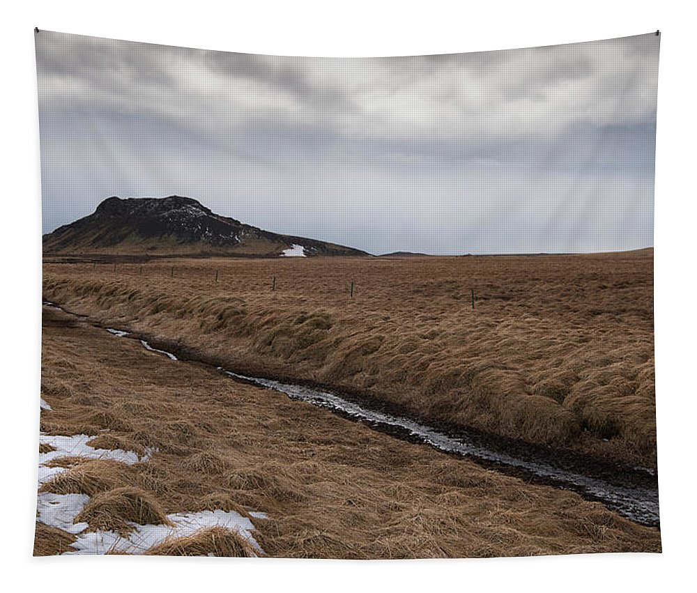 Icelandic Tapestry featuring the photograph Typical Icelandic Mountain Landscape by Michalakis Ppalis