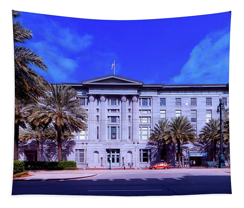 New Orleans Tapestry featuring the photograph U S Custom House - New Orleans by Mountain Dreams