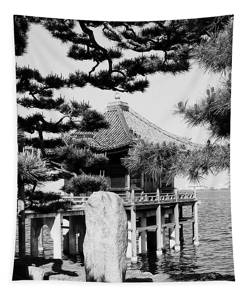 Asia Tapestry featuring the photograph Ukimi-do Temple by Juergen Weiss