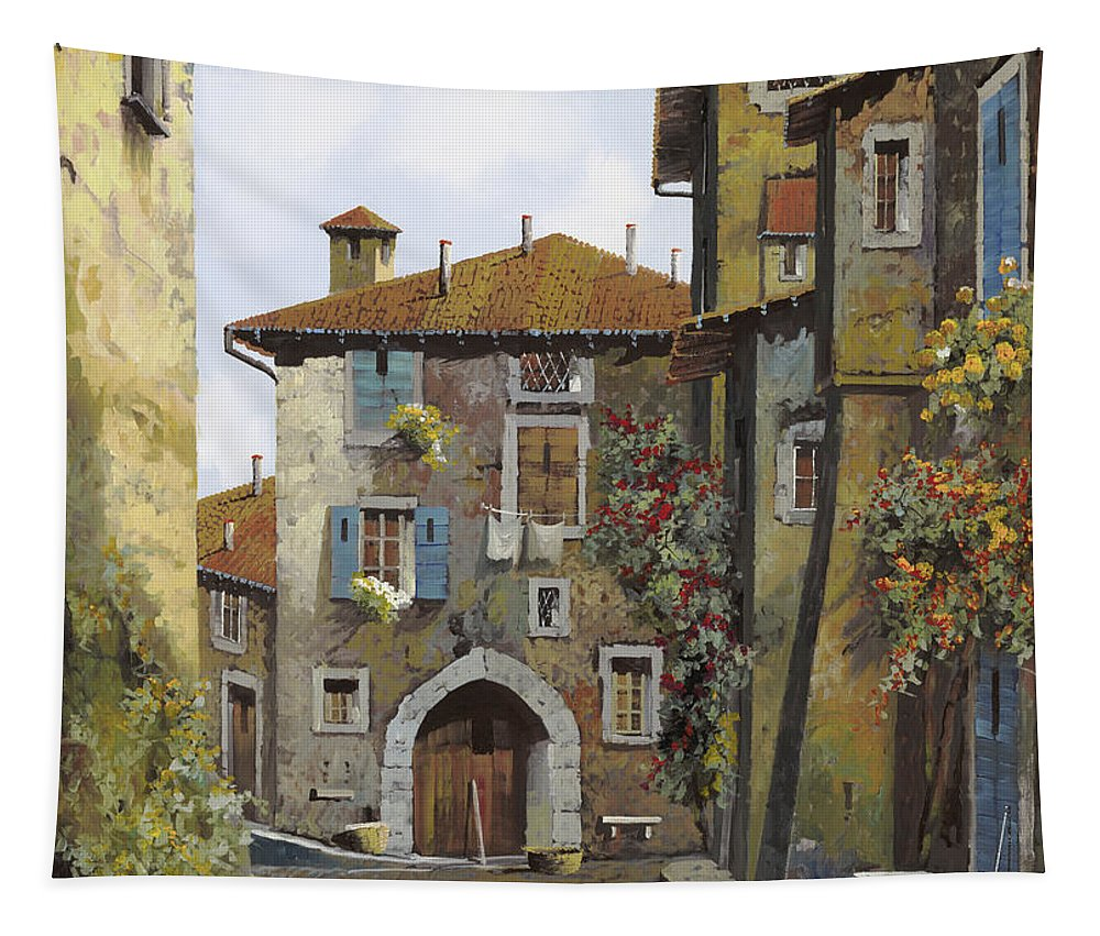 Umbria Tapestry featuring the painting Umbria by Guido Borelli