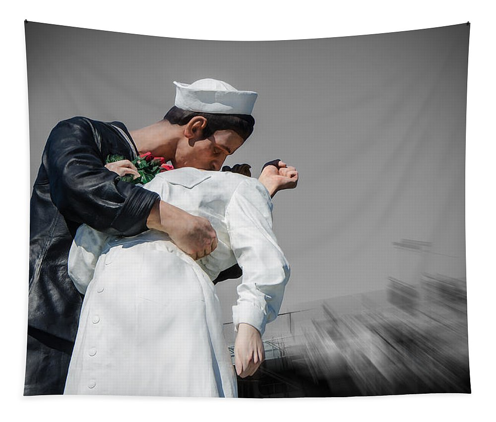 Unconditional Surrender Tapestry featuring the photograph Unconditional Surrender 1 by Susan McMenamin