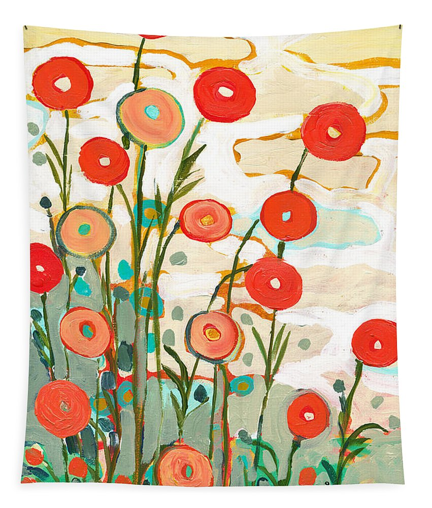 Poppy Tapestry featuring the painting Under the Desert Sky by Jennifer Lommers