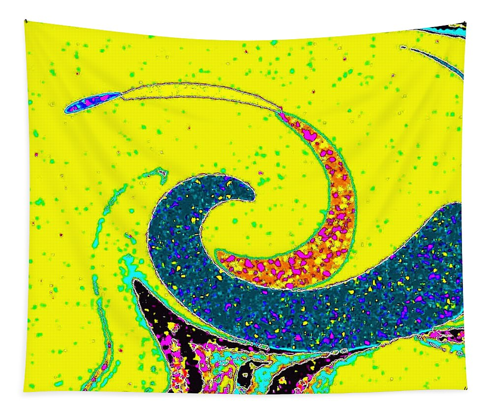 Abstract Tapestry featuring the digital art Under The Microscope by Will Borden