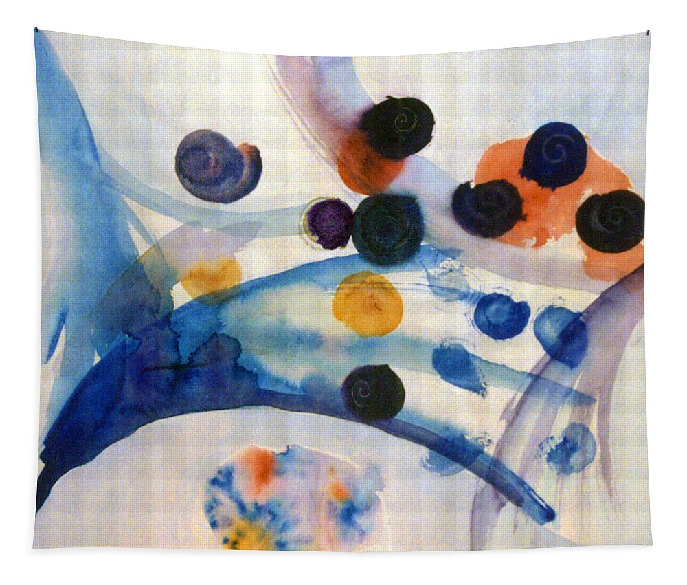 Abstract Tapestry featuring the painting Under The Sea by Steve Karol