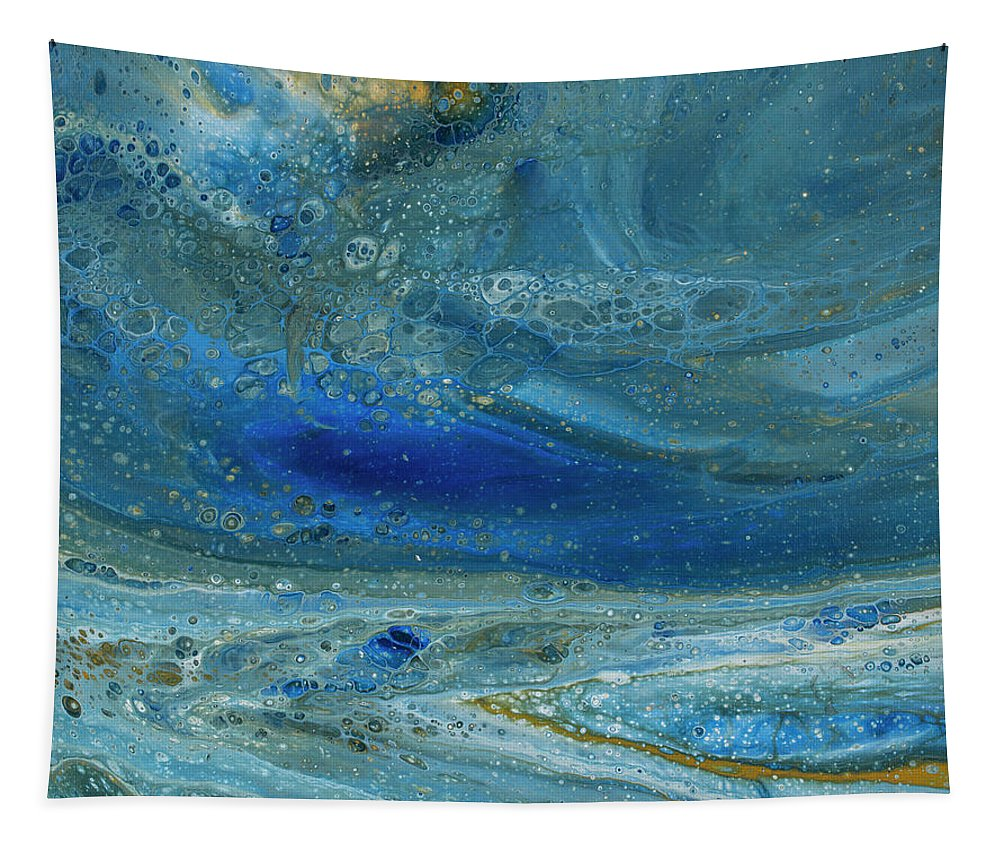 Abstract Tapestry featuring the painting Underworld by Darice Machel McGuire