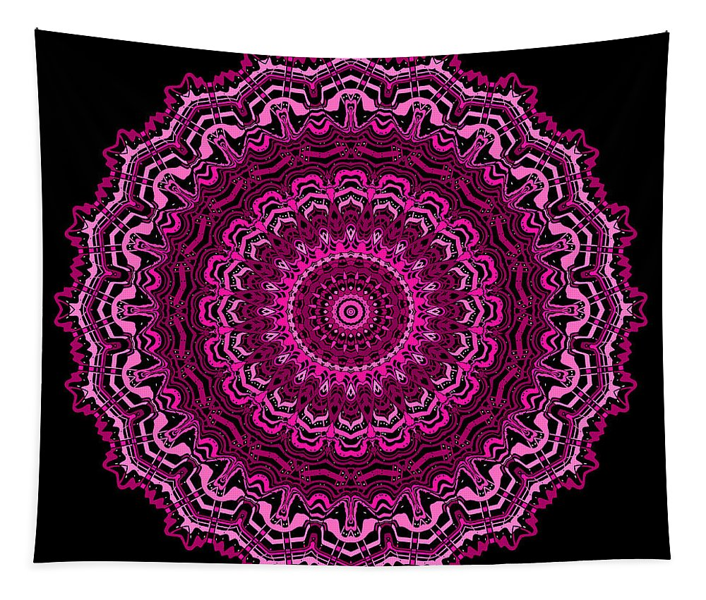 Digital Tapestry featuring the digital art Unexpected In Pink No. 2 by Joy McKenzie