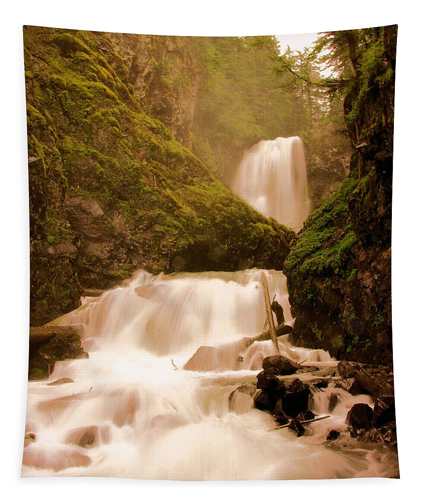 Waterfall Tapestry featuring the photograph Union Creek Falls by Jeff Swan