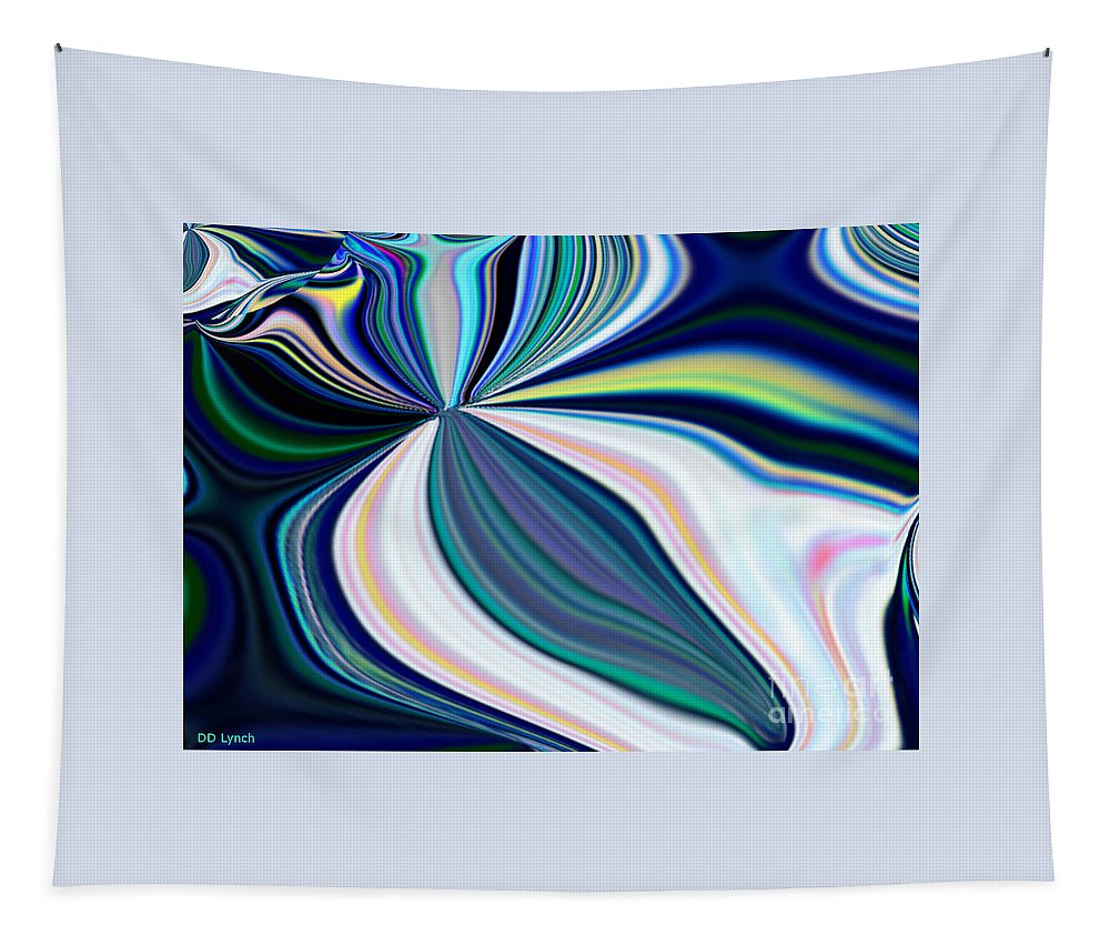 Rainbow Tapestry featuring the digital art United Fronts Of A Rainbow by Debra Lynch